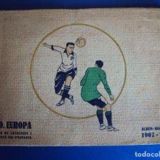Coleccionismo deportivo: (F-171155)ÁLBUM HISTORIAL C. D. EUROPA 1907-1923 - CAMPIO DE CATALUNYA I FINALISTA D´ESPANYA. Lote 104590347