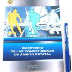Coleccionismo deportivo - LIBRO OFICIAL FEF RFEF 14-15 DIRECTORIO DE LAS COMPETICIONES DE AMBITO ESTATAL - 104685591