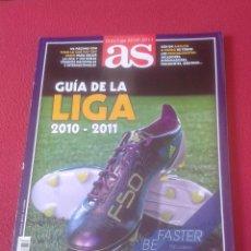 Coleccionismo deportivo: REVISTA LIBRO GUÍA AS LIGA 2010-2011 FÚTBOL, FOOTBALL JUGADORES PLAYERS, SPANISH LEAGUE SPAIN ESPAÑA. Lote 106074495