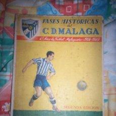 Coleccionismo deportivo: FASES HISTORICAS CD MALAGA. Lote 54030667