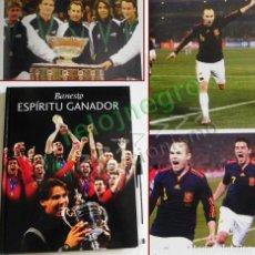 Coleccionismo deportivo: ESPÍRITU GANADOR LIBRO RAFA NADAL SELECCIÓN ESPAÑOLA DE FÚTBOL MUNDIAL 2010 TENIS DEPORTE HISTORIA. Lote 109447811
