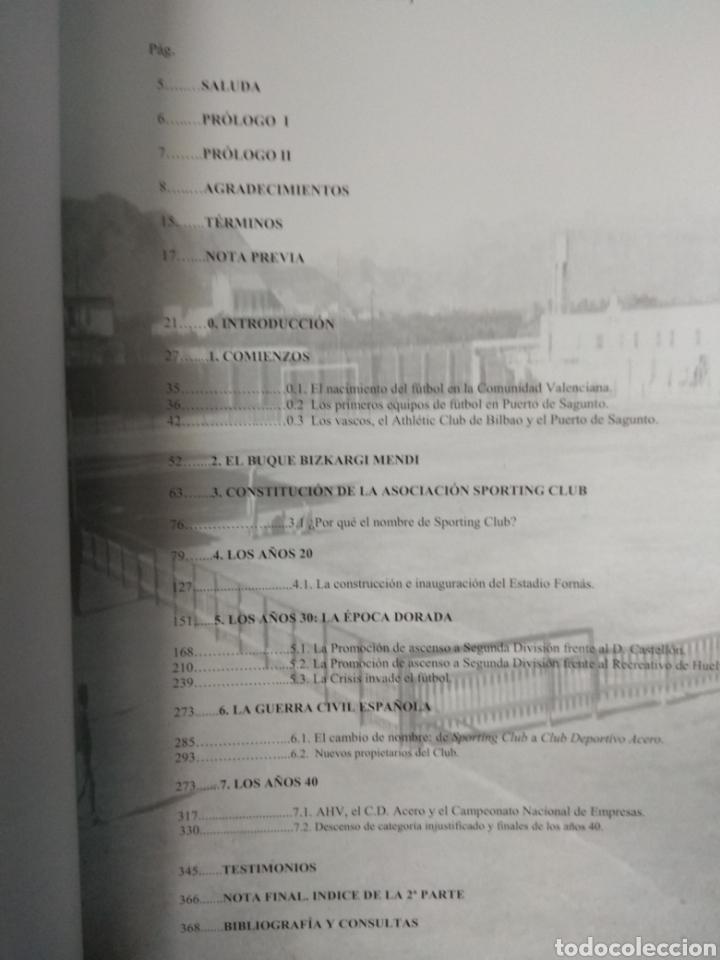 Coleccionismo deportivo: SPORTING CLUB C.D. ACERO. LOS LEONES DEL MEDITERRANEO. PUERTO SAGUNTO. SÁNCHEZ CEREZUELA, F. - Foto 3 - 109745071