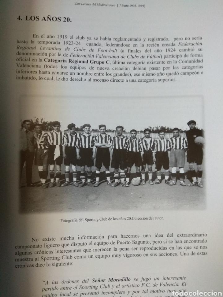 Coleccionismo deportivo: SPORTING CLUB C.D. ACERO. LOS LEONES DEL MEDITERRANEO. PUERTO SAGUNTO. SÁNCHEZ CEREZUELA, F. - Foto 5 - 109745071