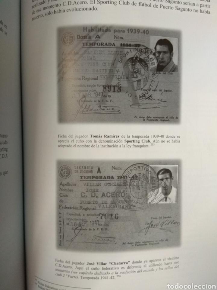 Coleccionismo deportivo: SPORTING CLUB C.D. ACERO. LOS LEONES DEL MEDITERRANEO. PUERTO SAGUNTO. SÁNCHEZ CEREZUELA, F. - Foto 6 - 109745071