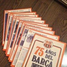 Coleccionismo deportivo: FC BARCELONA. 75 ANIVERSARIO. ENCICLOPEDIA LAE COMPLETA. ESTADO IMPECABLE.. Lote 111274179