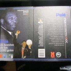 Coleccionismo deportivo: FIGURAS CON STILO - PELE - EL HOMBRE DE LOS 1000 GOLES - MARCA - JOSE VICENTE HERNANDEZ. Lote 118117422