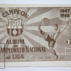 Coleccionismo deportivo: PUBLICACIÓN FÚTBOL - ÁLBUM CAMPEONATO NACIONAL LIGA. CAMPEÓN CF BARCELONA 1947-1948 - ED. ALAS. Lote 111954395