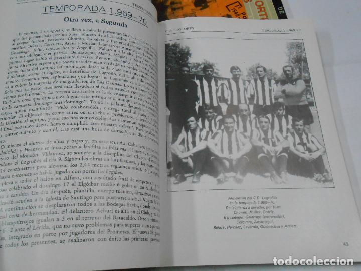 Coleccionismo deportivo: CLUB DEPORTIVO LOGROÑES. CINCO DECADAS DE FUTBOL. 1940-1990. 2 TOMOS. TDK109 - Foto 2 - 111991731