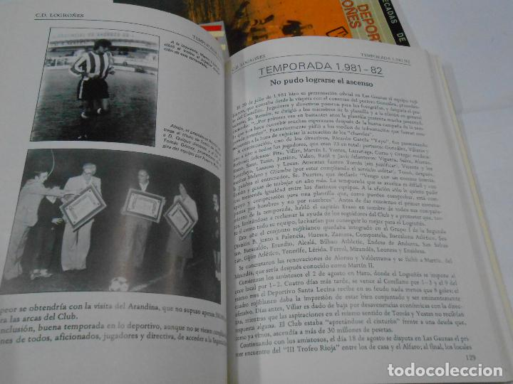 Coleccionismo deportivo: CLUB DEPORTIVO LOGROÑES. CINCO DECADAS DE FUTBOL. 1940-1990. 2 TOMOS. TDK109 - Foto 3 - 111991731