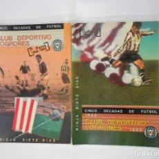 Coleccionismo deportivo: CLUB DEPORTIVO LOGROÑES. CINCO DECADAS DE FUTBOL. 1940-1990. 2 TOMOS. TDK330. Lote 111991871