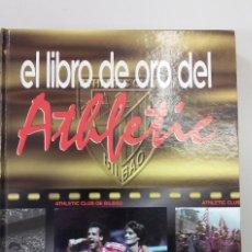 Coleccionismo deportivo: EL LIBRO DE ORO DEL ATHLETIC DE BILBAO. EL CORREO. COMPLETO CON TODOS LOS CROMOS ADHESIVOS. Lote 112522151