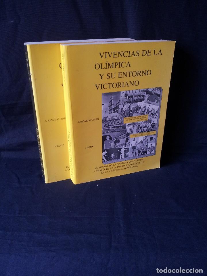 A.RICARDO LUJAN - VIVENCIAS DE LA OLIMPICA Y SU ENTORNO VICTORIANO 2 TOMOS - FIRMADO 1993 (Coleccionismo Deportivo - Libros de Fútbol)