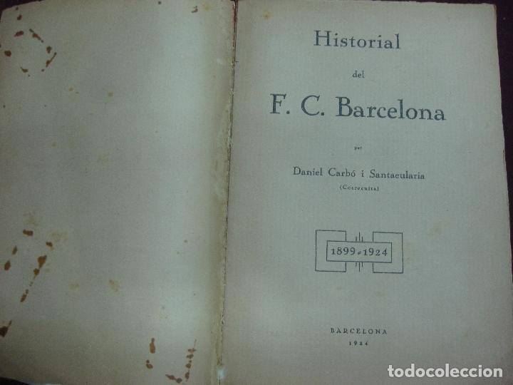 Coleccionismo deportivo: NOCES D'ARGENT DEL F.C. BARCELONA. 1899-1924. DANIEL CARBO I SANTAOLARIA. 2 VOLUMS. BARCELONA 1924. - Foto 2 - 115673891