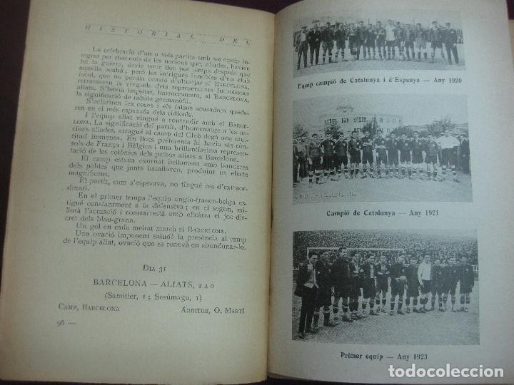 Coleccionismo deportivo: NOCES D'ARGENT DEL F.C. BARCELONA. 1899-1924. DANIEL CARBO I SANTAOLARIA. 2 VOLUMS. BARCELONA 1924. - Foto 7 - 115673891