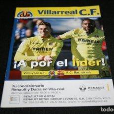 Coleccionismo deportivo: PROGRAMA FUTBOL VILLARREAL - BARCELONA TEMPORADA 17-18. Lote 116937295