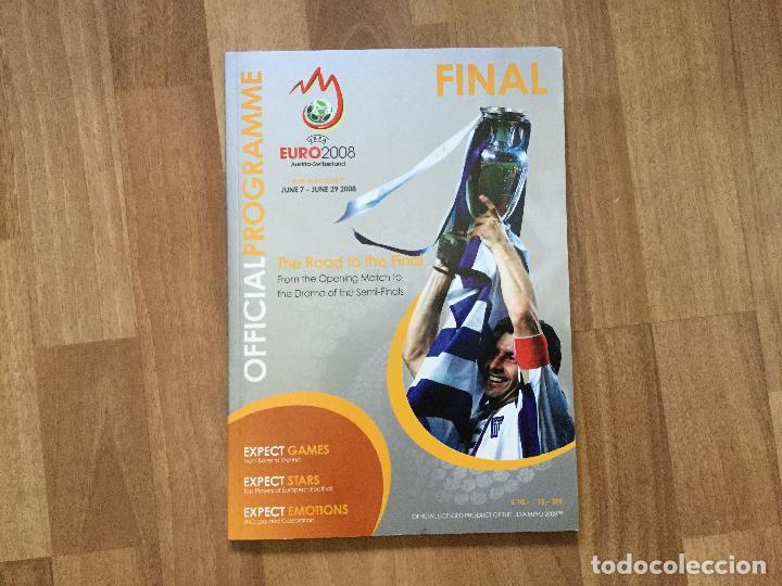FINAL EURO 2008 - PROGRAMA OFICIAL DE LA EUROCOPA FUTBOL 2008 SELECCION ESPAÑOLA CAMPOS,ETC (Coleccionismo Deportivo - Libros de Fútbol)