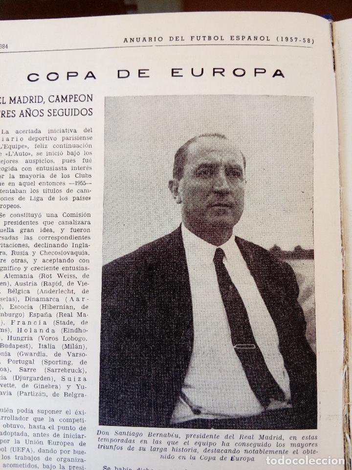 Coleccionismo deportivo: anuario del futbol español - temporada 1957 -58 - ediciones alonso - 912 paginas - buen estado - Foto 8 - 117928819