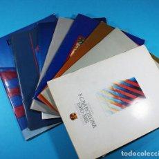 Coleccionismo deportivo: LOTE 7 MEMORIAS F.C.BARCELONA 1980-1987+LIBRO 1986 CON AUTOGRAFO DE JOSE LUIS NUÑEZ, VER DESCRIPCION. Lote 118738123