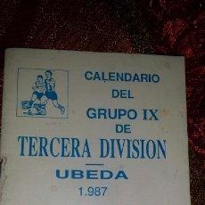 Coleccionismo deportivo: CALENDARIO GRUPO I× TERCERA DIVISIÓN. Lote 119462994