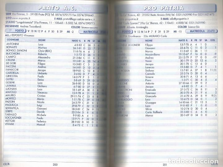 Coleccionismo deportivo: N. BINDA & R. COMINOLI. - UOMINI E GOL 2001/2002 - Anuario / Yearbook. # - Foto 2 - 120763847
