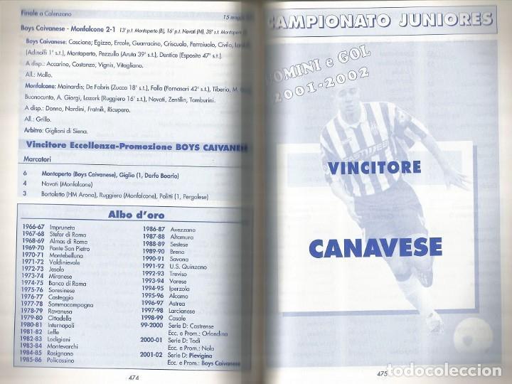 Coleccionismo deportivo: N. BINDA & R. COMINOLI. - UOMINI E GOL 2001/2002 - Anuario / Yearbook. # - Foto 3 - 120763847