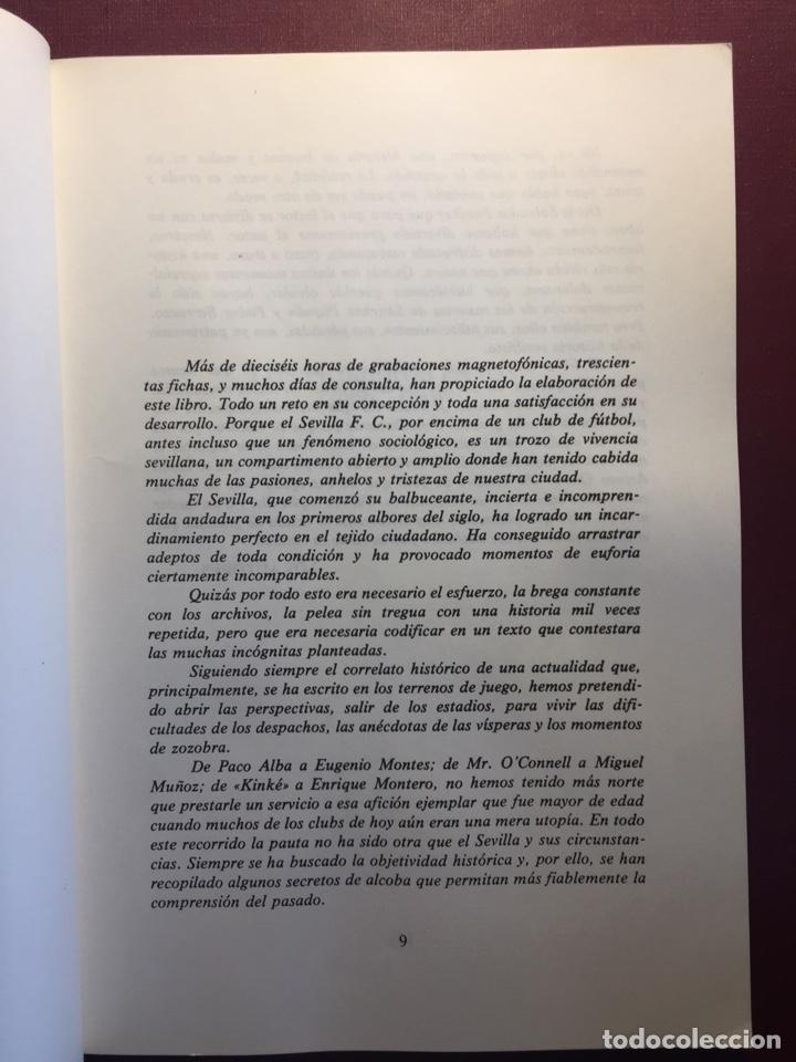 Coleccionismo deportivo: Libro: Sevilla F.C, 75 años de historia.(1905/1980). - Foto 3 - 121876031