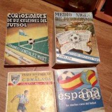 Coleccionismo deportivo: LOTE LIBRO FIDELITO Y FERNANDO GONZALEZ MART, HISTORICOS DEL MALAGA, ESPAÑA 82 CELEBRES DEL FUTBOL. Lote 122359351