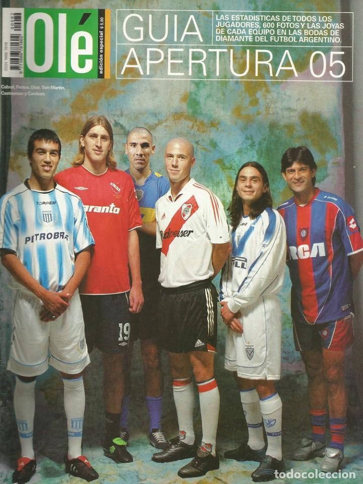 OLÉ. - GUÍA APERTURA 2005 - EXTRALIGA / LEAGUEGUIDE. # (Coleccionismo Deportivo - Libros de Fútbol)