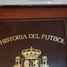 Coleccionismo deportivo: HISTORIA DE FUTBOL SU MUNDIAL PORTONOVO RESTAURANTE MOAÑA. Lote 122656560