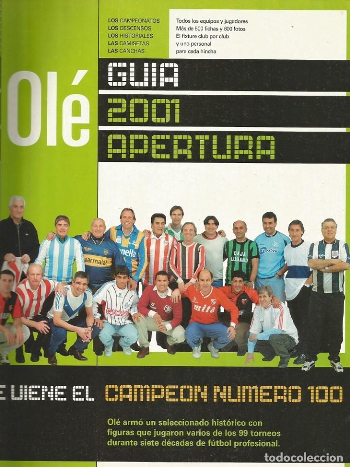 OLÉ. - GUÍA APERTURA 2001 - EXTRALIGA / LEAGUEGUIDE. # (Coleccionismo Deportivo - Libros de Fútbol)