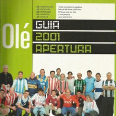 Coleccionismo deportivo: OLÉ. - GUÍA APERTURA 2001 - EXTRALIGA / LEAGUEGUIDE. #. Lote 122981243