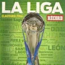 Coleccionismo deportivo: RÉCORD. - GUÍA CLAUSURA 2014 - EXTRALIGA / LEAGUEGUIDE. #. Lote 123067747