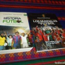 Coleccionismo deportivo: HISTORIA DEL FÚTBOL Y LOS MUNDIALES DE FÚTBOL DE LA CELESTE URUGUAY A LA ROJA ESPAÑA EDAF 2010 RAROS. Lote 124491699