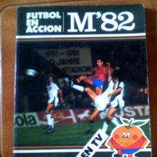 Coleccionismo deportivo: LIBRO MUNDIAL 82 MATEU CROMO S,A 1982 CARICATURAS DEL MUNDIAL EN CATALA. Lote 126095195