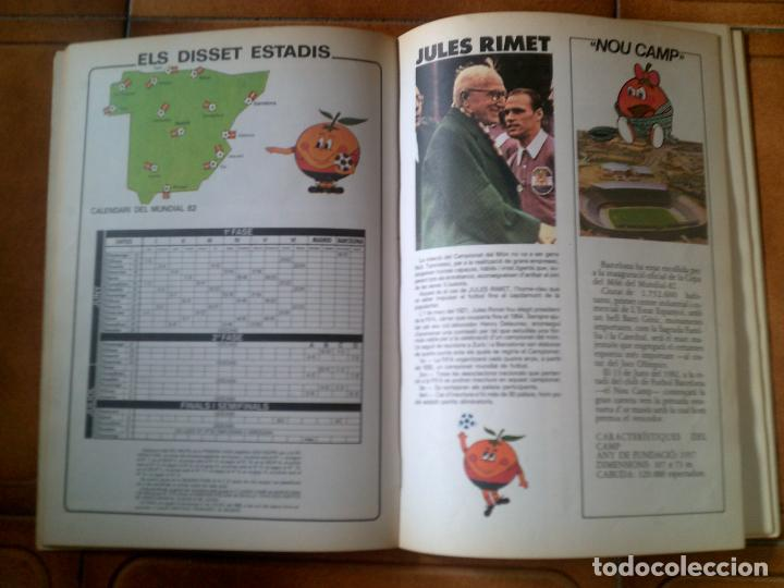 Coleccionismo deportivo: LIBRO MUNDIAL 82 MATEU CROMO S,A 1982 CARICATURAS DEL MUNDIAL EN CATALA - Foto 3 - 126095195