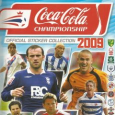 Coleccionismo deportivo: ALBUM PANINI. - COCA COLA CHAMPIONSHIP 2009.#. Lote 126166091