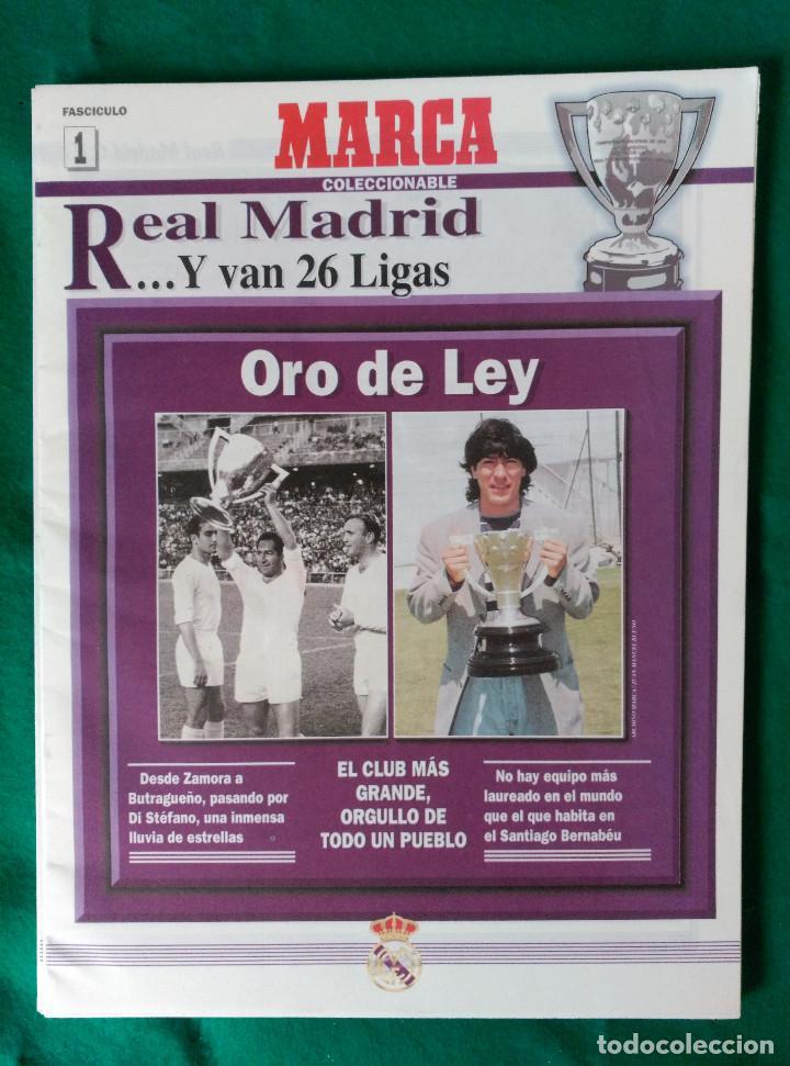 Coleccionismo deportivo: REAL MADRID DE 1928 A 1995 - 7 FASCICULOS - VER DESCRIPCION Y FOTOGRAFIAS - Foto 2 - 126168775