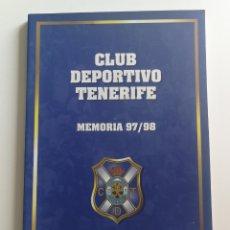 Coleccionismo deportivo: CLUB DEPORTIVO TENERIFE MEMORIA 97/98. Lote 126971071