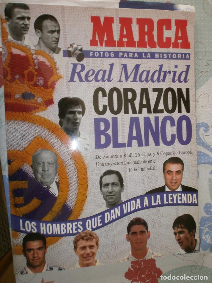MARCA FOTOS PARA LA HISTORIA REAL MADRID CORAZÓN BLANCO (Coleccionismo Deportivo - Libros de Fútbol)