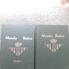 Coleccionismo deportivo - 2 LIBROS DE MUNDO BETICO-TOMO 1 Y 2-los primeros 40 numeros encuadernados - 128012311