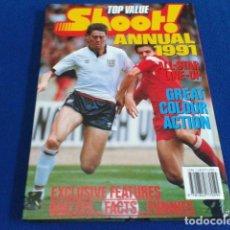 Coleccionismo deportivo: LIBRO TOP VALUE ( SHOOT ! ANNUAL 91 ) 1991 ALL STAR LINE - UP COMO NUEVO 126 PAGINAS TAPA DURA . Lote 128027067