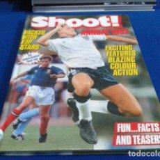 Coleccionismo deportivo: LIBRO TOP VALUE ( SHOOT ! ANNUAL ) 1992 - AN UNBEATABLE LINE - UP COMO NUEVO 126 PAGINAS TAPA DURA. Lote 128027279