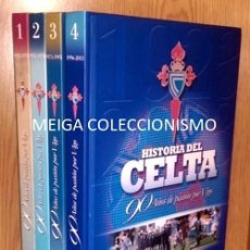 Coleccionismo deportivo: HISTORIA DEL CELTA. 90 AÑOS DE PASION POR VIGO, 4 TOMOS. FUTBOL. GALICIA. FOTOS PACHECO. COMO NUEVOS. Lote 206871581