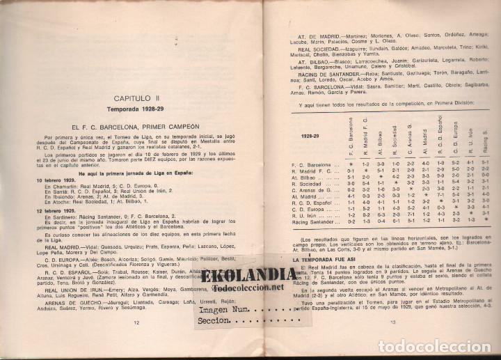 Coleccionismo deportivo: Y LA LIGA (DE FUTBOL) SIGUE (1928-1970). EKL JOSE MANUEL HERNANDEZ. 3ª EDICIÓN 1970 - Foto 2 - 128980027