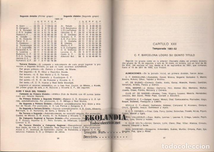 Coleccionismo deportivo: Y LA LIGA (DE FUTBOL) SIGUE (1928-1970). EKL JOSE MANUEL HERNANDEZ. 3ª EDICIÓN 1970 - Foto 3 - 128980027