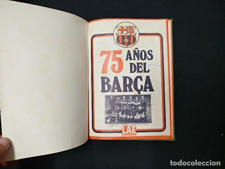 75 AÑOS DEL BARÇA - LAE - LA ACTUALIDAD ESPAÑOLA - COMPLETO 10 FASCICULOS ENCUADERNADOS (Coleccionismo Deportivo - Libros de Fútbol)