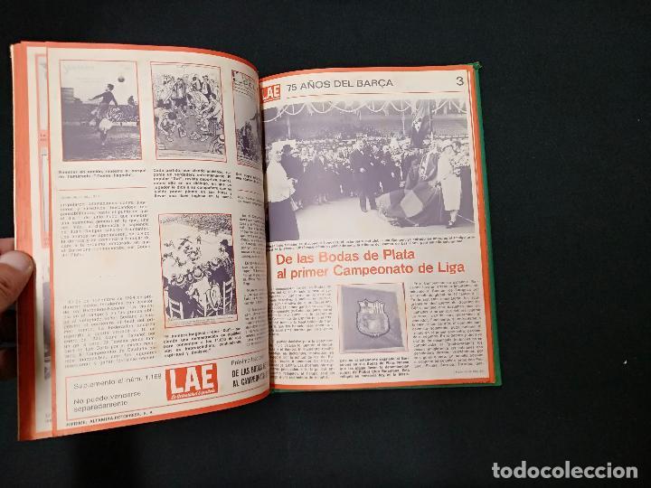 Coleccionismo deportivo: 75 AÑOS DEL BARÇA - LAE - LA ACTUALIDAD ESPAÑOLA - COMPLETO 10 FASCICULOS ENCUADERNADOS - Foto 6 - 130313114