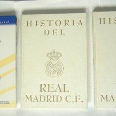Coleccionismo deportivo: HISTORIA DEL REAL MADRID C. F. ( DOS TOMOS ) + HISTORIA GRAFICA DEL REAL MADRID. Lote 130661023