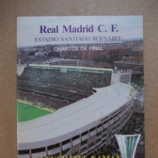 Coleccionismo deportivo: PROGRAMA OFICIAL UEFA. CUARTOS DE FINAL. REAL MADRID-NEUTXATEL XAMAX. 1986. BERNABEU. Lote 218641322