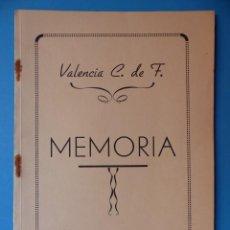 Coleccionismo deportivo: VALENCIA CLUB DE FUTBOL - MEMORIA - TEMPORADA 1952-53. Lote 133959998